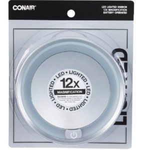 Conair 12x Magnification Dome Lighted Mirror